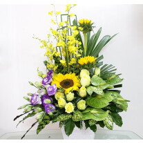yellow & purple arrangement